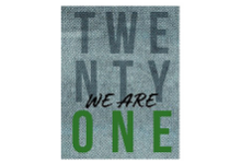 Vestal High School 2021 Yearbook Cover, with the words Twenty One and We Are One.