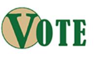 The word Vote.