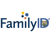 Family I D (identification) logo with the Golden bear head snuggled inside the letter D.