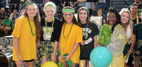 Members of the Vestal HS Student Government pose for a photo during the Fall Pep Rally on October 5, 2017.