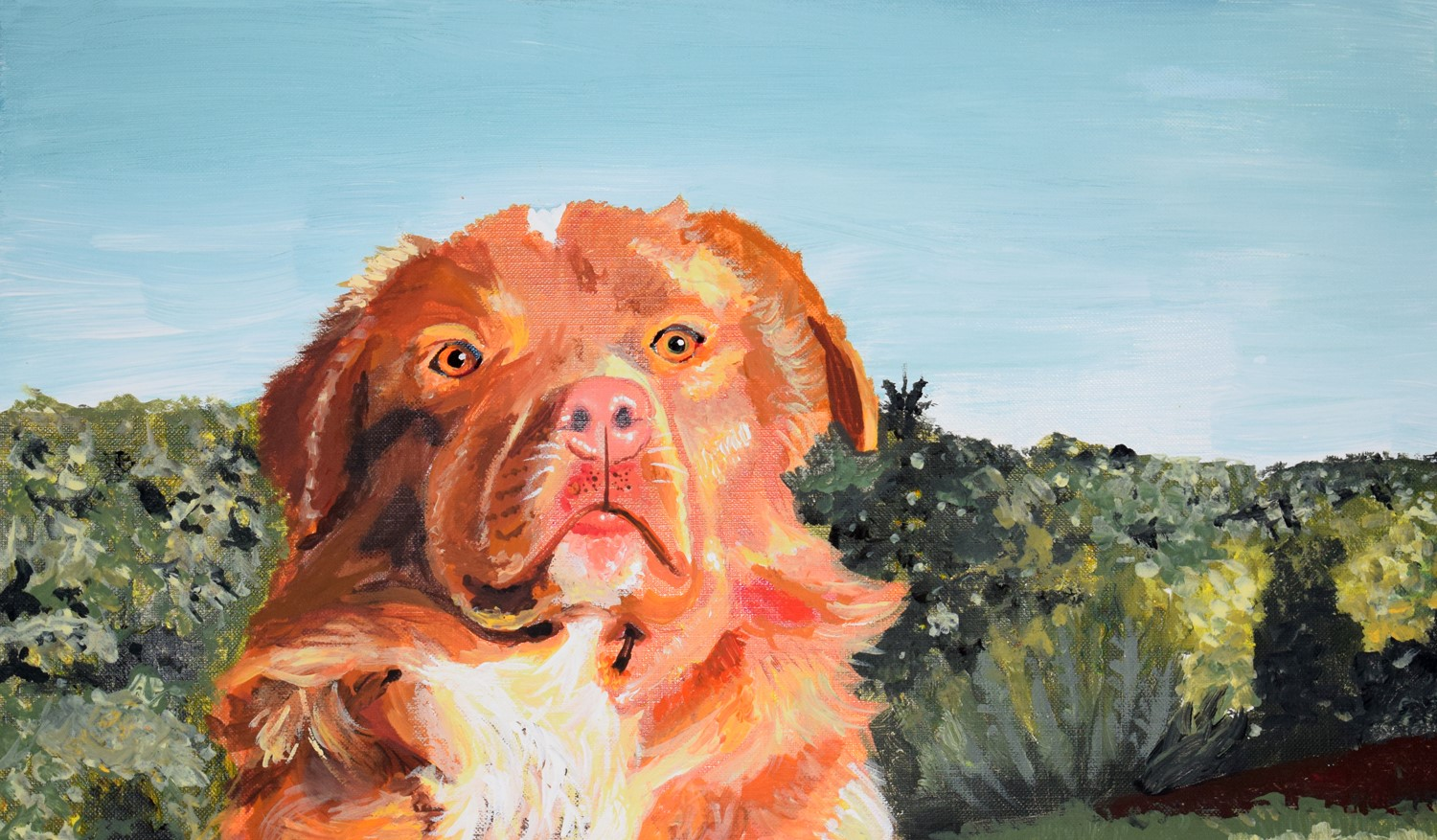 Painting of a dog by Brielle Sarkisian