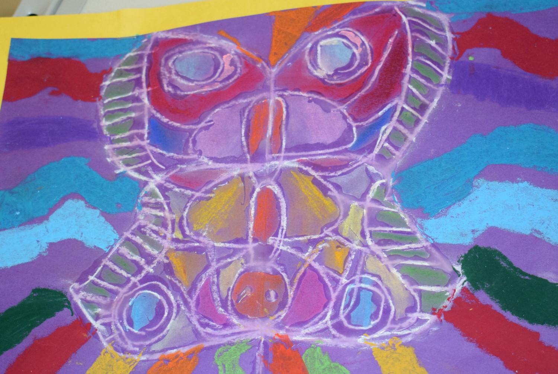 Pastel chalk butterfly by Geilla Nwugwo