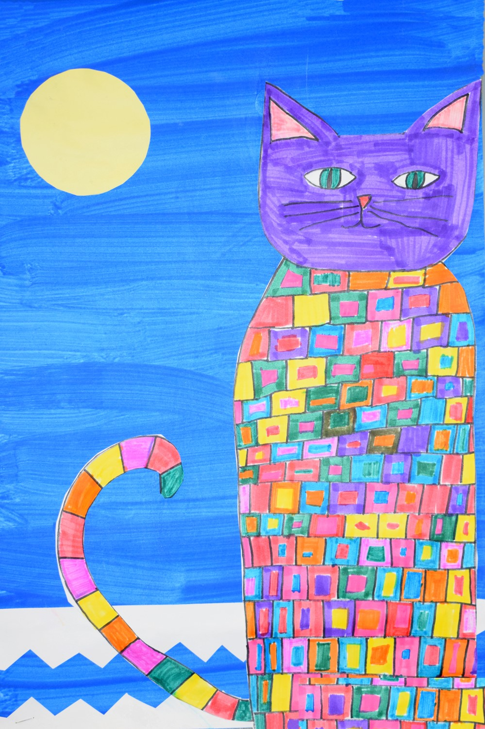 Patchwork cat by Addison