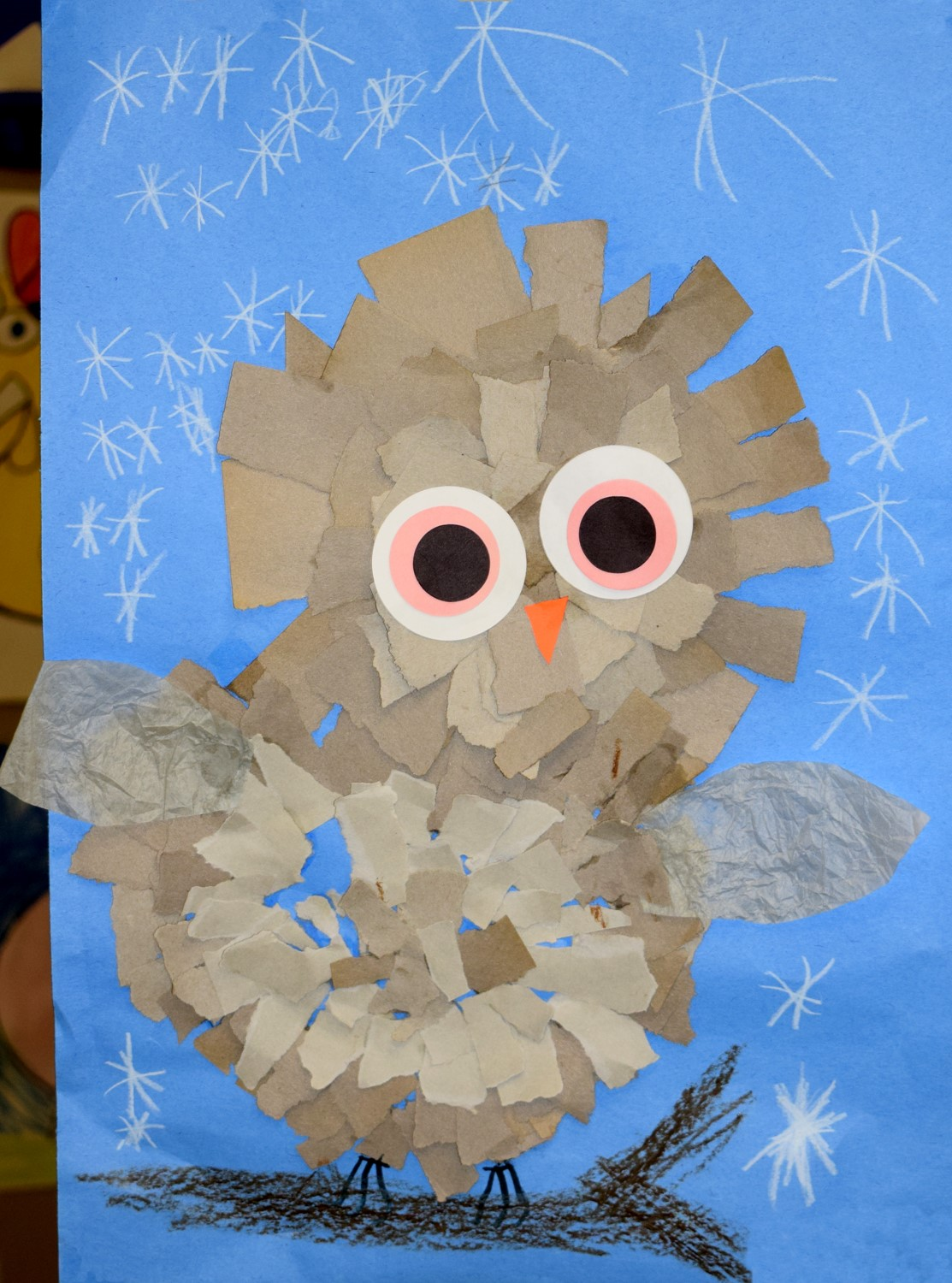 Construction-paper Owl by Addyson