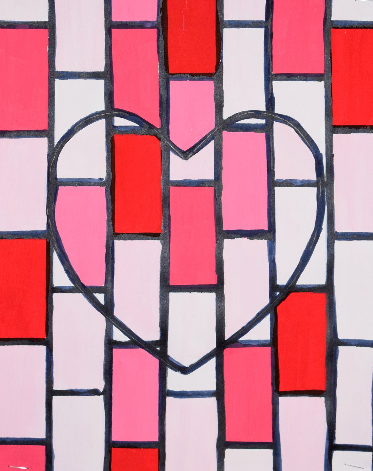 Stained-glass Heart by Ava Brunetti