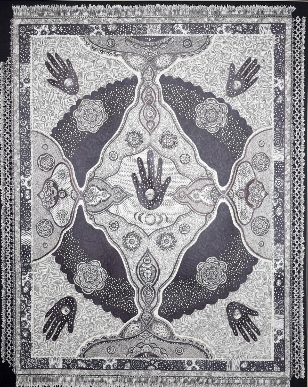 Black Rug by Caroline Guzewicz