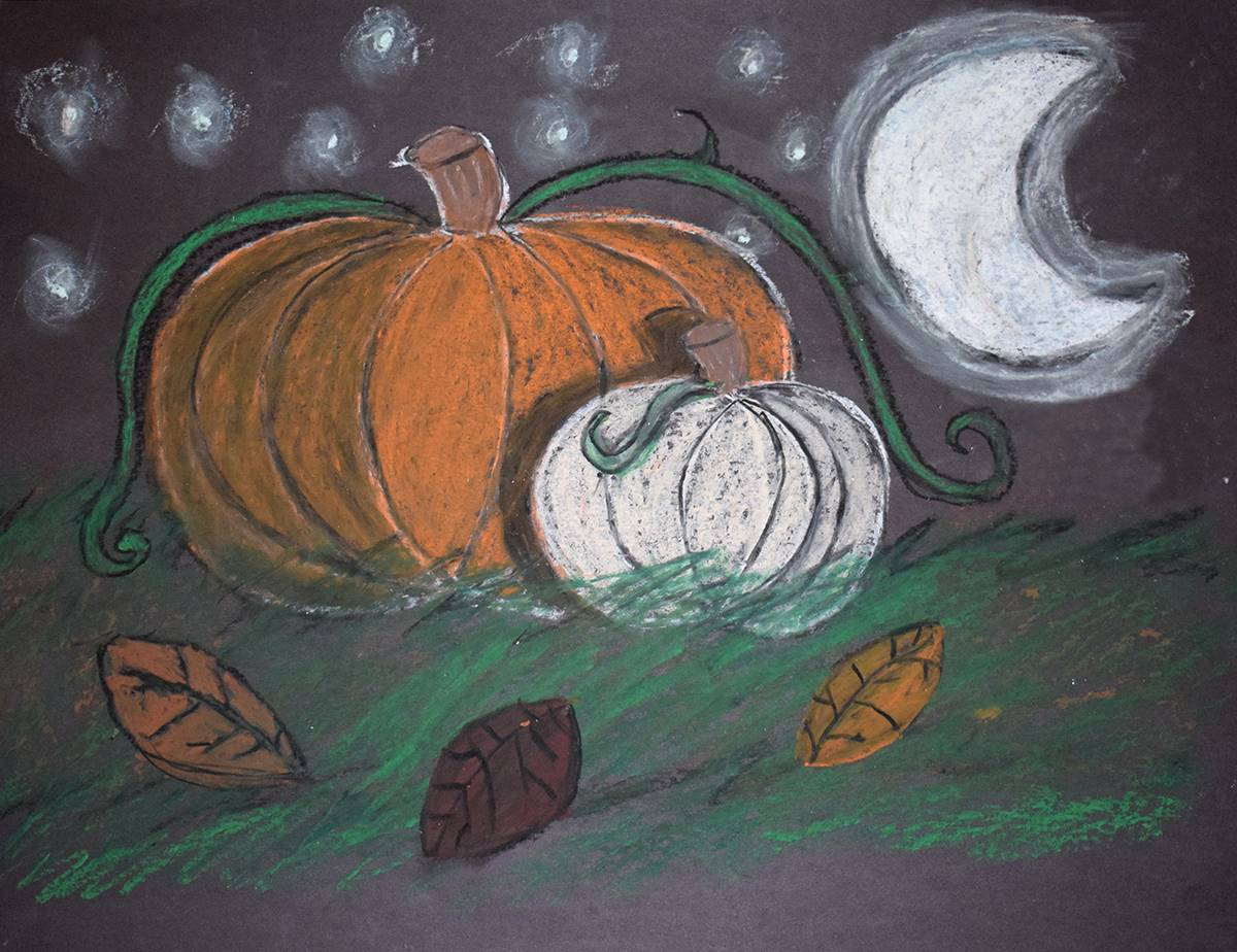 A Vestal Hills Elementary student artist has drawn an arresting portrait of large orange and small w
