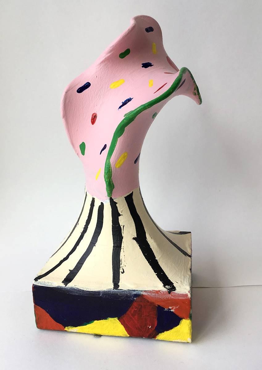 Avant garde abstract sculpture.
